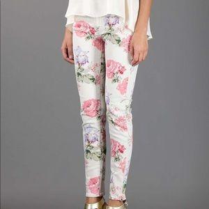 DENIM & SUPPLY CO Ralph Lauren Floral Skinny Jeans
